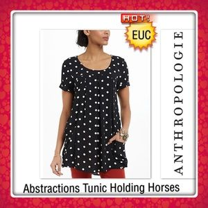 Abstractions Tunic Anthropologie Holding Horses