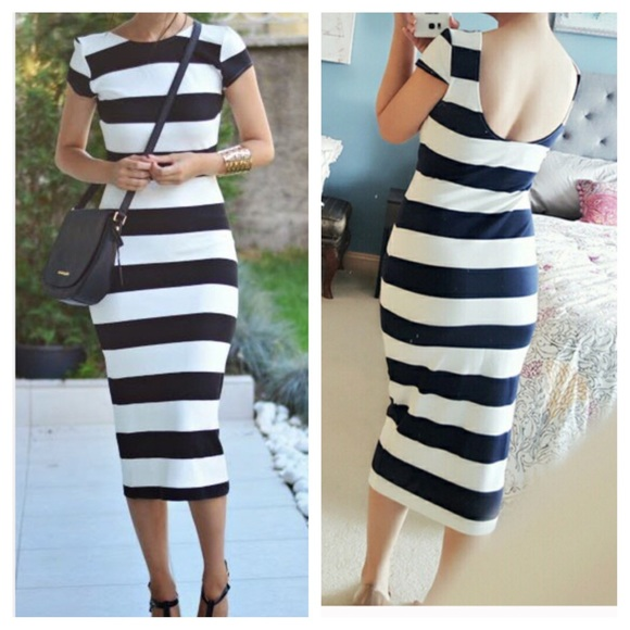 682b8231b2c Zara Black Striped Dress – Little Black Dress