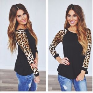 🎉SALE🎉Black Leopard Print Sleeves❤️