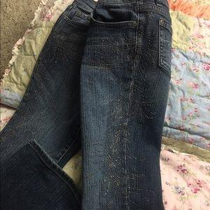 Denim - Embellished blue jeans 👖
