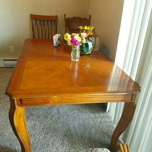 Real wood table w/ chairs for sale