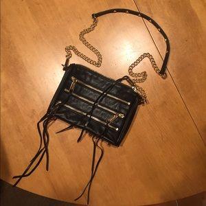Rebecca Minkoff black fringe purse