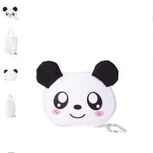 New Forever 21 Panda Expandable Tote Bag