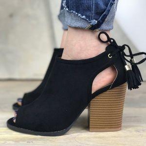 cut out black heel