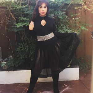 Miu Miu Dresses & Skirts - MIU MIU NETTED SKATER SKIRT US MED