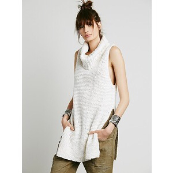 74% off Free People Sweaters - Free People sleeveless cowl neck ...