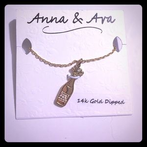 Anna & Ava Jewelry - Anna & Ava Champagne Bottle Necklace- NWT 🍾