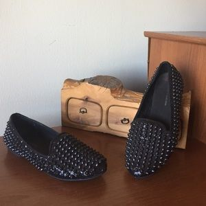 Zara Spiked Loafers