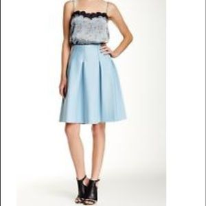 1. state Dresses & Skirts - Blue pleated scuba skater skirt