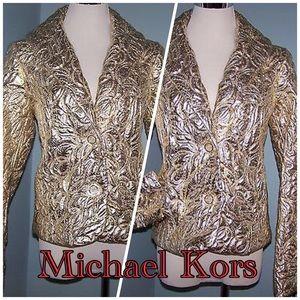 Michael Kors Gold Women's Puffer Jacket Size 10