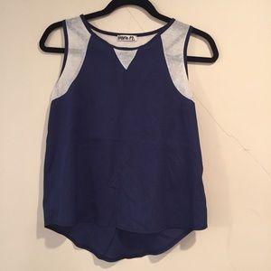 Pinc Premium Tops - Navy blue Style Blouse