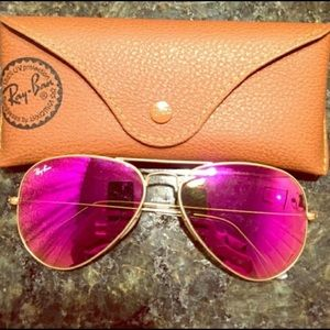 Ray-Ban Accessories - 🌴SPRING BREAK SALE🌴NWT Hot Pink Ray-Ban Aviators