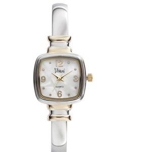 Viviana Accessories - Vivani two toned bangle watch