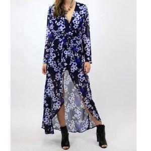 Southern Girl Fashion Jackets & Blazers - FLORAL DRESS Convertible Draped Maxi Bohemian Gown