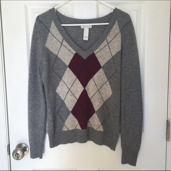 tweeds - Tweeds 100% Cashmere Argyle Sweater Large from Chi's ...