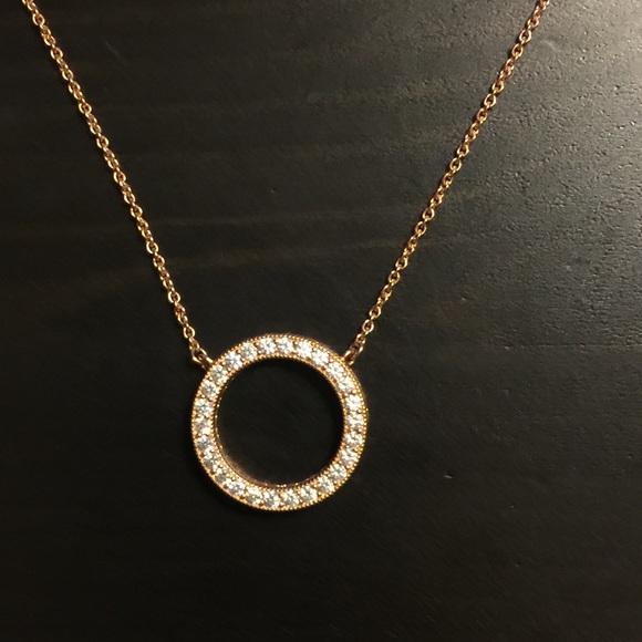 Pandora Jewelry - Authentic Hearts of Pandora Rose Necklace