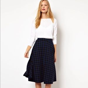 FINAL REDUCTION! ASOS Midi Skirt in Ponte Check