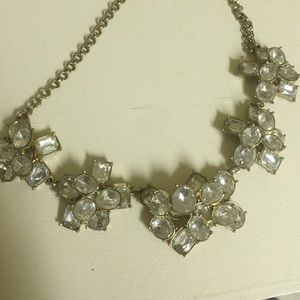 J.Crew Factory Jewelry - J.crew statement crystal cluster necklace
