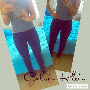 Calvin Klein Jeans Denim - Calvin Klein purple skinny jeans 27/4