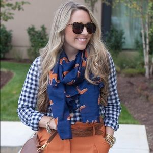 ASOS Accessories - Navy and orange fox print scarf
