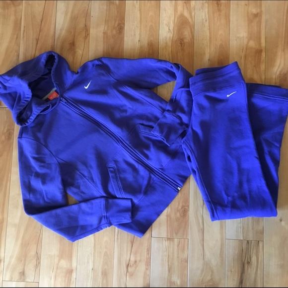 blue nike sweatsuit