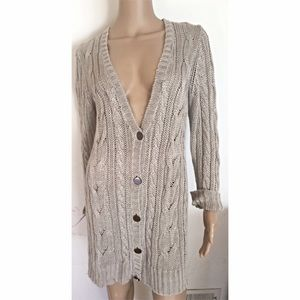 Margaret O'Leary Sweaters - Margaret O'Leary Linen Chunky Knit Cardigan
