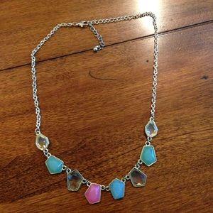 Stone/ gem statement necklace
