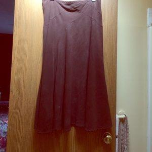 Ladies faux suede skirt