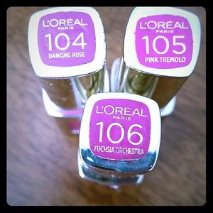 *$15 gift *B1G1 50%Bundle sale* L'Oréal lip bundle