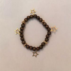 Wooden star bracelet