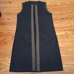 Jackets & Blazers - Bollywood Vest Long Length w/Embroidered Detailing