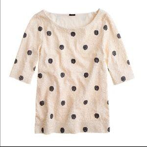 Jcrew polka dot sequin top