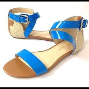 Enzo Angiolini Blue Espadrille Sandals