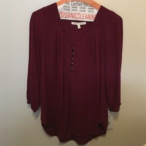 Tops - Sheer wine-colored blouse