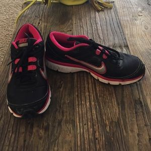 Nike Shoes - Black and pink nikes