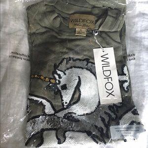 Wildfox Couture White Label Unicorn Sequin Tunic
