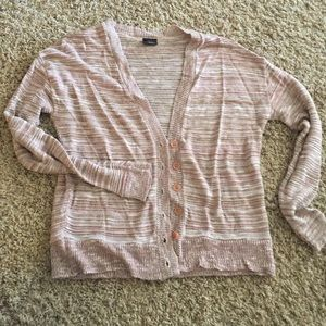 Urban Outfitters Sweaters - Light pink striped cardigan