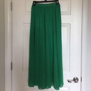 Chicwish Green Maxi Skirt
