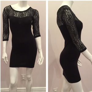 Material Girl Dresses & Skirts - Black lace fitted dress