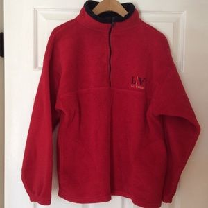 Tops - Las Vegas Red/blk 100% polyester pullover