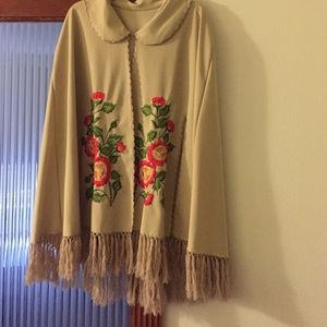 Vintage Embroidered Cape