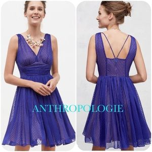 NWT! Anthropologie Cocktail Dress Blue by HD