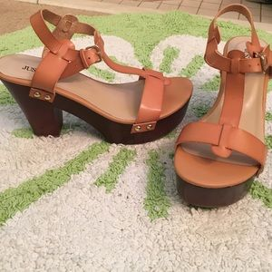JUST FAB wedges size 7.5 never worn