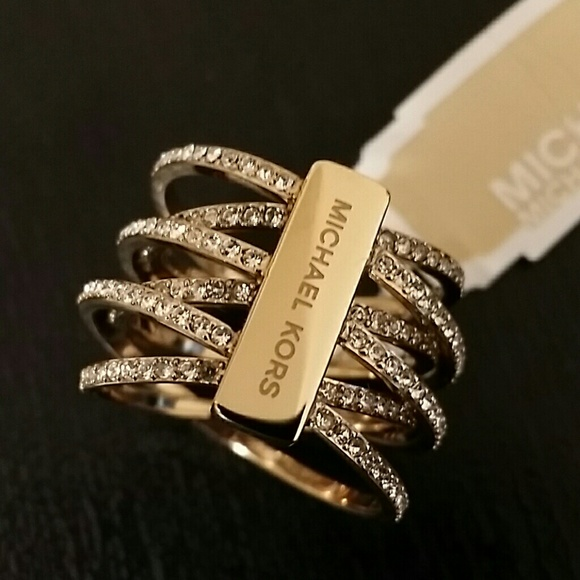michael kors pave criss cross ring
