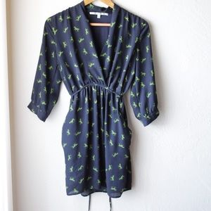 Collective Concepts Dresses & Skirts - Greene horse printed 3/4 length sleeve dress