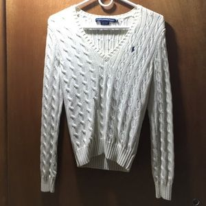 White Ralph Lauren sport sweater