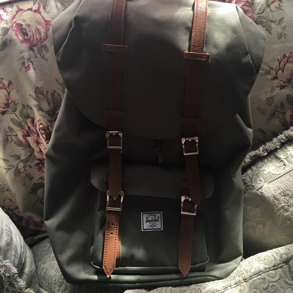 59f26e3f409c9 Herschel Supply Company Handbags - Olive Green Little America Herschel  Backpack