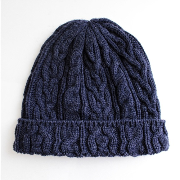H M Accessories - H M Navy Blue Cable Knit Beanie Hat 628db3e66a3
