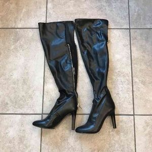 Nine west thigh high boots NWT