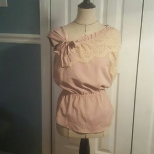 Very J Tops - Need gone Sale!  Very J Adorable blush blouse